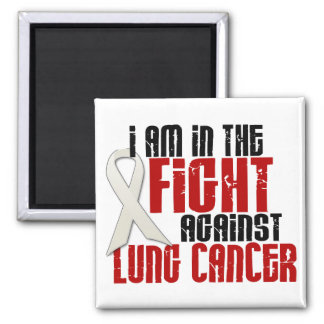 Lung Cancer IN THE FIGHT 1 Refrigerator Magnets