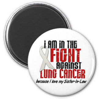 Lung Cancer IN THE FIGHT 1 Sister-In-Law 6 Cm Round Magnet