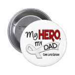 Lung Cancer MY HERO MY DAD 42 Badges