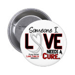 Lung Cancer NEEDS A CURE 2 Buttons
