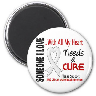 Lung Cancer Needs A Cure 3 Refrigerator Magnet