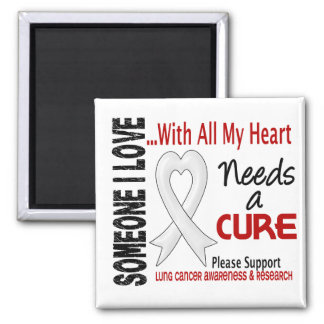Lung Cancer Needs A Cure 3 Refrigerator Magnets