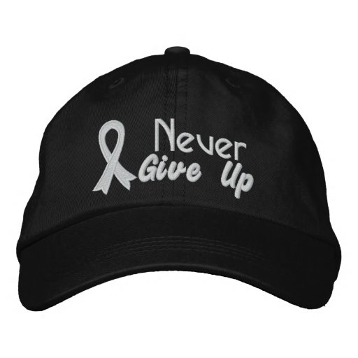 Lung Cancer Never Give Up Embroidered Baseball Cap