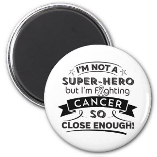 Lung Cancer Not a Super-Hero 2 Inch Round Magnet