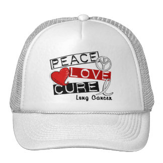 Lung Cancer PEACE LOVE CURE 1 Cap