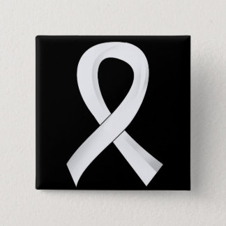 Lung Cancer Pearl Ribbon 3 15 Cm Square Badge