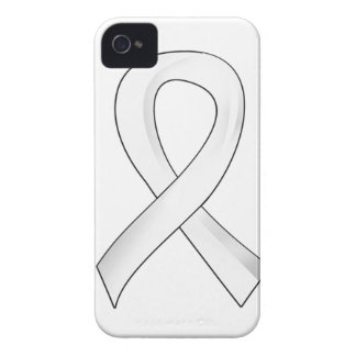 Lung Cancer Pearl Ribbon 3 iPhone 4 Case