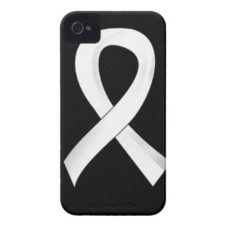 Lung Cancer Pearl Ribbon 3 Case-Mate iPhone 4 Cases