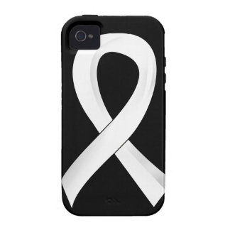 Lung Cancer Pearl Ribbon 3 Case-Mate iPhone 4 Cover
