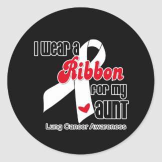Lung Cancer Ribbon (Aunt) Sticker