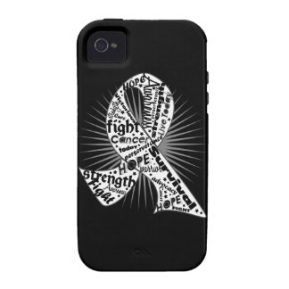 Lung Cancer Ribbon Powerful Slogans Vibe iPhone 4 Case