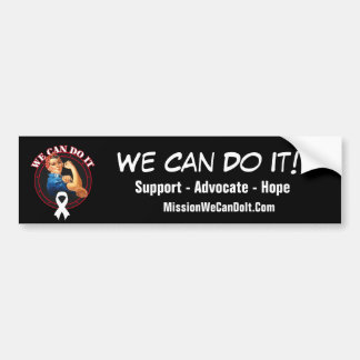 Lung Cancer - Rosie The Riveter - We Can Do It Bumper Sticker