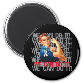 Lung Cancer Rosie WE CAN DO IT Magnets