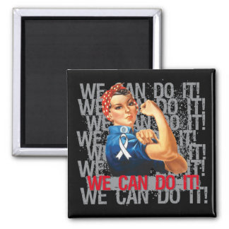 Lung Cancer Rosie WE CAN DO IT Magnet