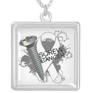 Lung Cancer - Screw Cancer Custom Jewelry