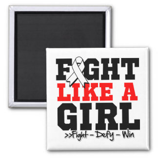 Lung Cancer Sporty Fight Like a Girl Refrigerator Magnets