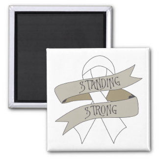 Lung Cancer Standing Strong Fridge Magnet