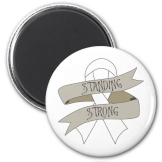 Lung Cancer Standing Strong Refrigerator Magnets