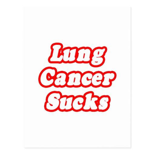 Lung Cancer Sucks Postcard