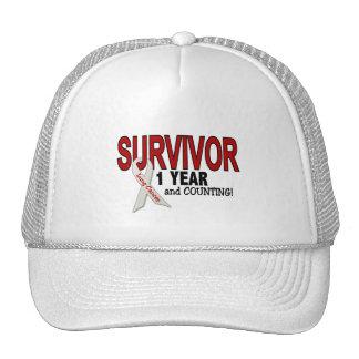 Lung Cancer Survivor 1 Year Hats
