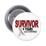 Lung Cancer Survivor 4 Years Pinback Button