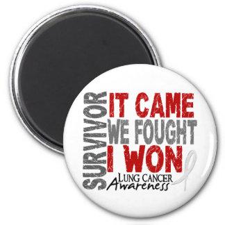 Lung Cancer Survivor It Came We Fought I Won 6 Cm Round Magnet