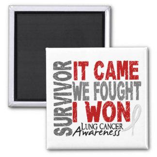 Lung Cancer Survivor It Came We Fought I Won Fridge Magnet
