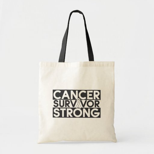 Lung Cancer Survivor Strong Tote Bags
