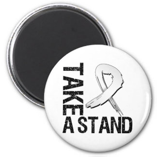 Lung Cancer Take A Stand Refrigerator Magnet