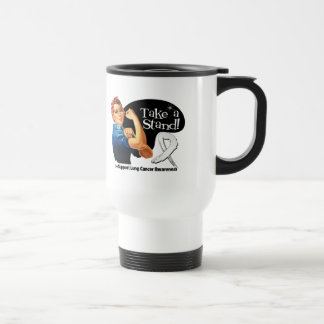 Lung Cancer Take a Stand Stainless Steel Travel Mug