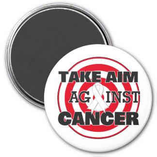 Lung Cancer Take Aim Against Cancer Fridge Magnets