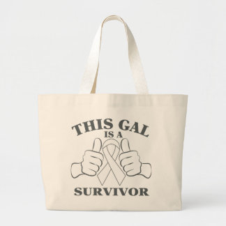 Lung Cancer This Gal is a Survivor Jumbo Tote Bag