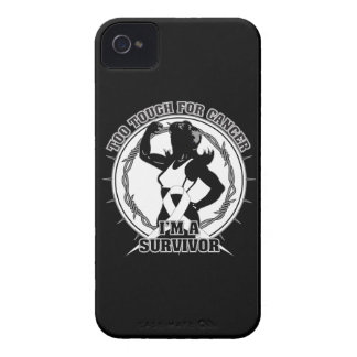 Lung Cancer Too Tough For Cancer iPhone 4 Covers