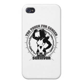 Lung Cancer Too Tough For Cancer iPhone 4/4S Covers