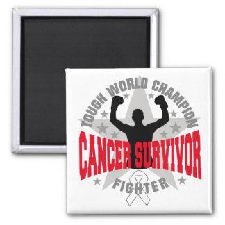 Lung Cancer Tough World Champion Survivor Fridge Magnets