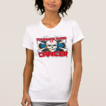 Lung Cancer Tougher Than Cancer Skull Tees