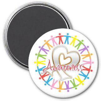 Lung Cancer Unite in Awareness 7.5 Cm Round Magnet
