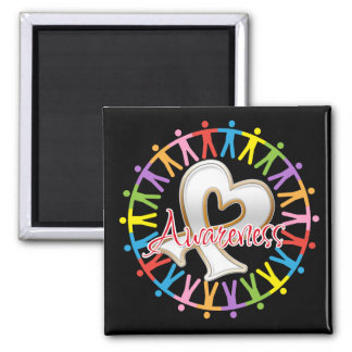 Lung Cancer Unite in Awareness Square Magnet