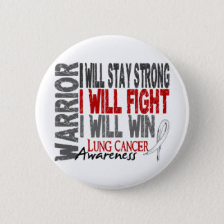 Lung Cancer Warrior 6 Cm Round Badge