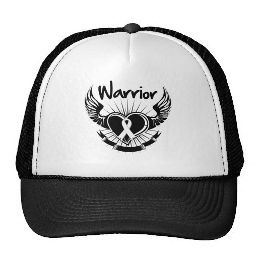 Lung Cancer Warrior Fighter Wings Hats