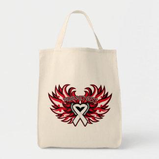 Lung Disease Awareness Heart Wings.png Canvas Bag