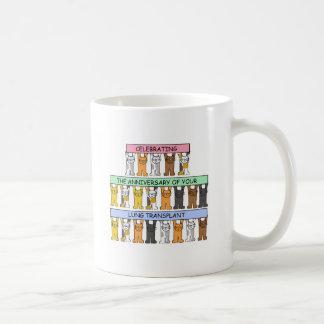 Lung transplant anniversary congratulations. coffee mug