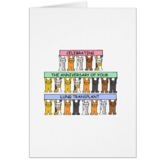 Lung transplant anniversary congratulations. greeting card