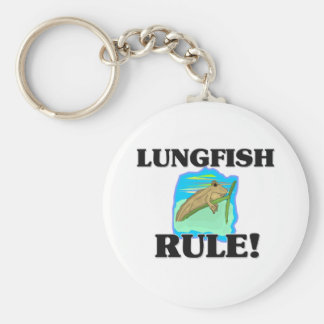 LUNGFISH Rule! Basic Round Button Key Ring