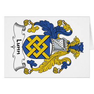 Lunn Family Crest Greeting Card