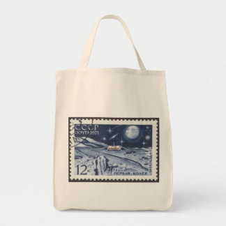 Lunokhod 1 Russian Moon Probe 1970 Grocery Tote Bag