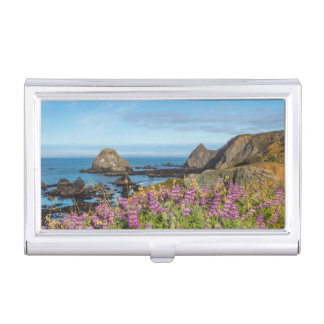 Lupine Wildflowers Cover The Hills Business Card Holder