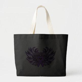 Lupus Awareness Heart Wings.png Bags