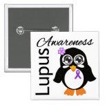 Lupus Awareness Penguin 15 Cm Square Badge