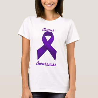 Lupus Awareness Purple Ribbon T-Shirt